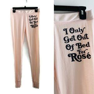 Wildfox Intimates Pink Rosé Lounge Pant Joggers M